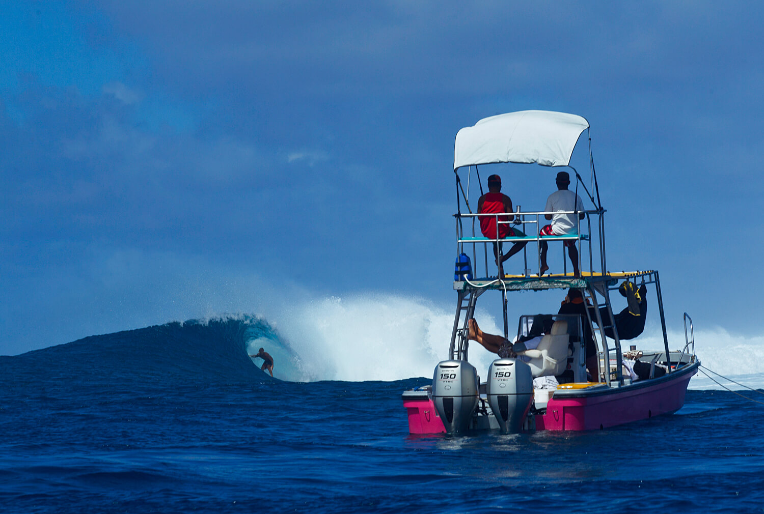Witnessing Great Surf from the Boat