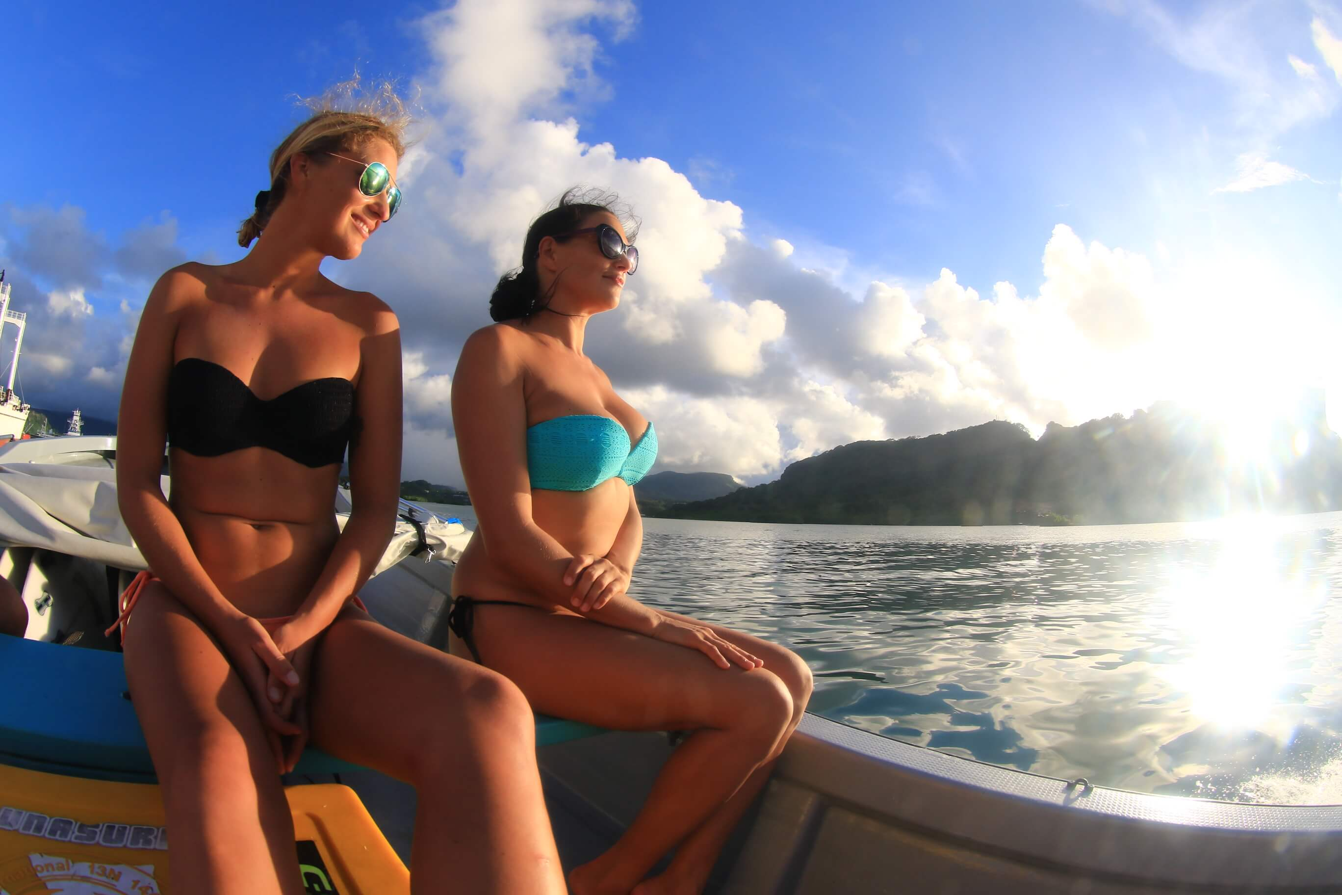 Relaxing on the Boat at Pohnpei Surf Club