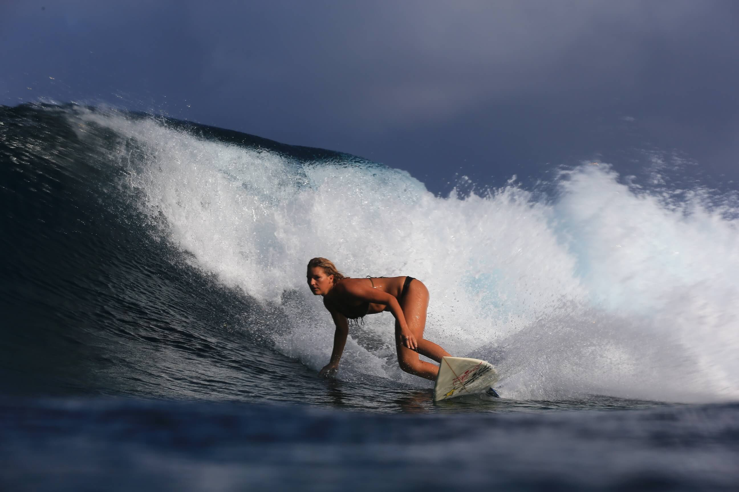 Surfing at Pohnpei Surf Club
