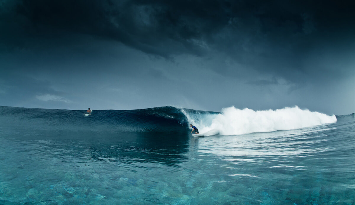 Surfing in a Storm at Pohnpei Surf Club
